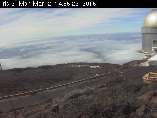 Webcam beim GTC auf dem Roque de los Muchachos: Ein Blick darauf empfiehlt sich vor einem Ausflug auf den höchsten Berg auf La Palma.