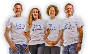 Das Manager-Team von La Palma 24-Ferienwohnungen: (v.l.n.r.): Volker, Gladys, Heidrun und Miki.