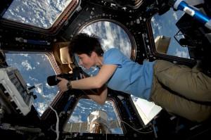ISS-Flugingenieurin Samantha Christoferetti: nahm La Palma und das TNG in den Fokus. Pressefoto ESA/NASA