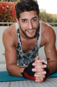 Mira relajado: Pero Yovany en este momento hace un ejercicio muy fuerte - como siempre con una sonrisa en los labios. Foto: La Palma 24