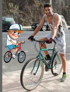 Yovany y yo: nos fuimos con bici en el gimnasio.