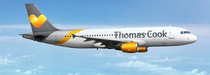 Thomas Cook: bringt wie immer einmal wöchentlich Passagiere aus Belgien nach SPC. Die Maschinen sehen aus wie die von Condor, denn auch die deutsche Airline gehört zur Thomas Cook-Group. Pressefoto: Thomas Cook Airways