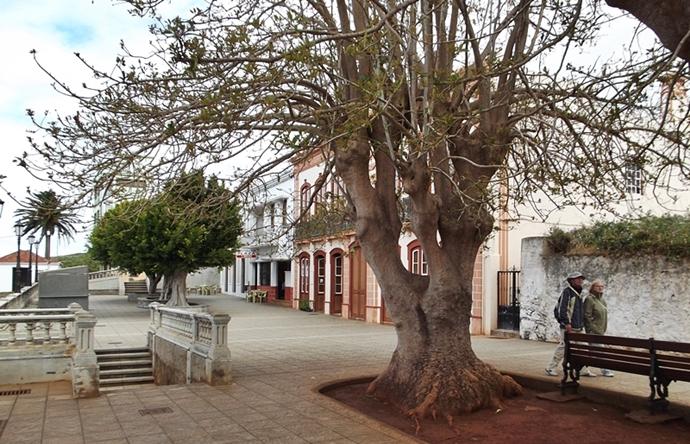 Der Laden von Antje ist leicht zu finden: direkt neben dem Café auf der Plaza in Santo Domingo. Foto: La Palma 24