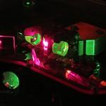 Astro Comb: grüner Laser. Foto: TNG