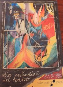 Christel-Plakat: 1. Preis beim Welttheatertag-Wettbewerb 1996 auf La Palma.