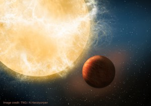 Kepler 78b im Sternbild Schwan: einer der bereits von HARPS-N vermessenen Exoplaneten. Foto: TNG