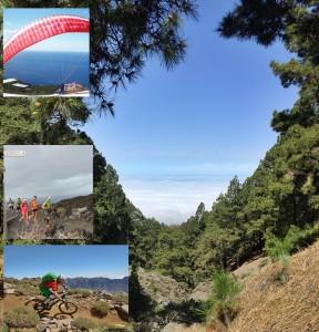 Wanderer, Paraglider, Trailrunner und Biker mit und ohne Motor: entdecken das Naturparadies La Palma. Fotos: Kreikenbom/La Palma 24