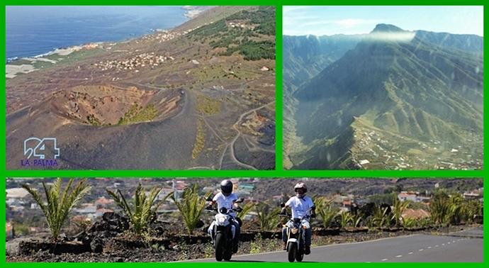 Motorrad mieten: Die Kanareninsel La Palma ist ein Paradies für Motorradfahrer, die auch mal einen Blick in die Landschaft werfen. Fotos: La Palma 24