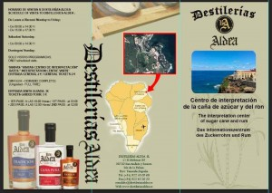 Lageplan der Rum-Destille von Aldea: Im Centro Interpretación wird über die Geschichte der Rumherstellung informiert, und man kann dort nicht nur Rum einkaufen.