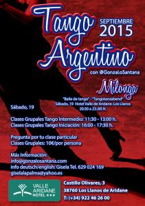 Tango Argentino: Kurse und Tanzabend.