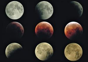 Totale Mondfinsternis: Der Erdtrabant wechselt seine Farbe