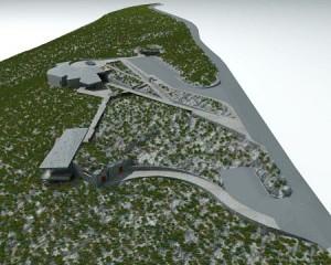 Modell des geplanten Besucherzentrums auf dem Roque de los Muchachos: