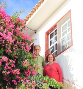 Carmen und Pedro vor ihrem Haus in Tijarafe: Künstler-Ehepaar seit