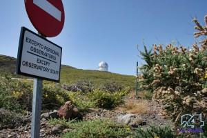 Garafía-Bauprojekt auf dem Roque: Ein unterhalb der Observatorien angelegter Parkplatz soll den Verkehr im Bereich der Observatorien in Zukunft minimieren. Foto: La Palma 24