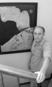 Dieses Gemälde von Pedro Fausto hängt im Gang seines Hauses: auch mal Ausflüge ins Abstrakte. Foto: La Palma 24