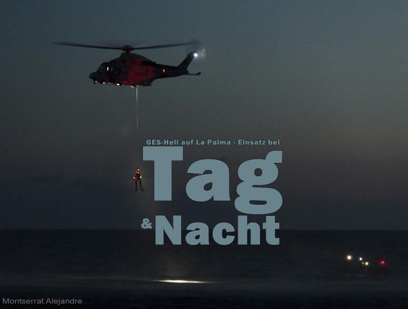 Título GES-Rettungsuebung-Puerto Naos-noche Montserrat Alejandre foto