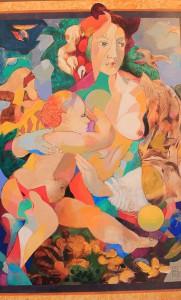 """Peter Hermans """"Mother and Child"""": Auch dieses Werk ist als Kunstdruck erhältlich - angefertigt hat es der holländische Maler nach einer Zeichnung von Michelangelo. Foto: La Palma 24"""