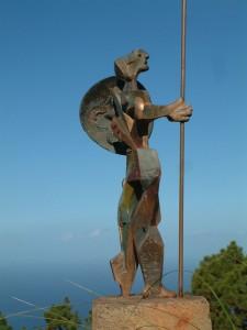 """Peter Hermans: Skulpturen waren sein """"Hobby"""", obwohl ihm die Arbeit als Kirchenkünstler dazu kaum Zeit ließ. Foto: Archiv Peter Hermans"""