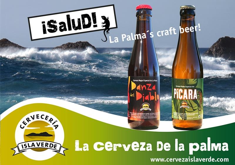 Wer in einem Lokal auf La Palma dieses Plakat sieht, sollte nachfragen: Nicht immer stehen die Biere von Gino auf der Karte. Plakat: Cervezería Isla Verde