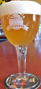Trappisten-Kelche aus Belgien: Darin werden Ginos Biere serviert, wenn sie frisch aus dem Fass kommen. Foto: La Palma 24