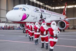 Weihnachten bei Airberlin: Christbäume fliegen gratis mit. Pressefoto Airberlin