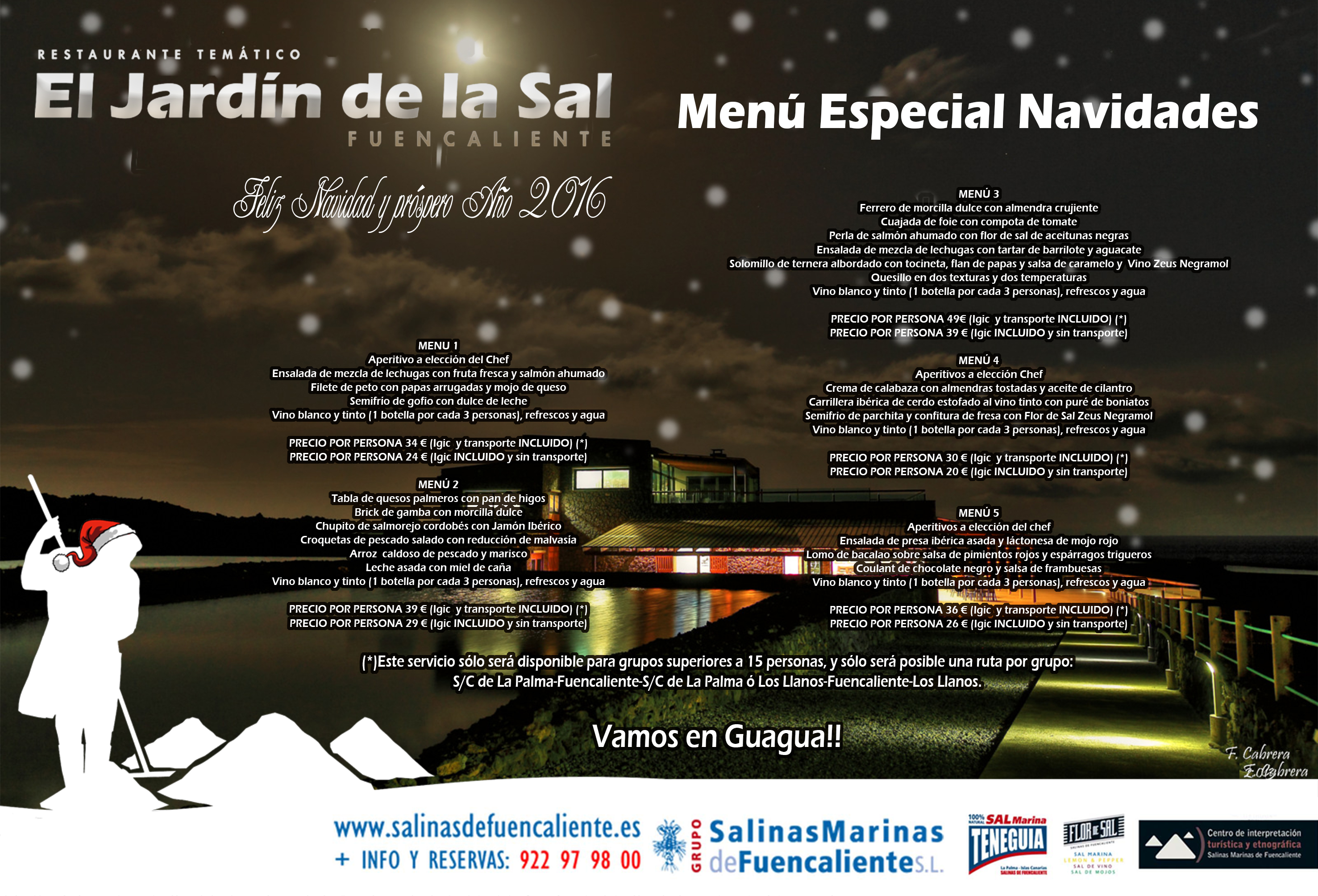 Theme restaurant jard n de la sal special menu christmas for Cafe jardin menu