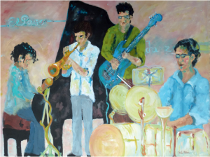 """Am Freitag, 22. Januar 2016 eröffnet: Ausstellung mit viel """"Musik"""" von Syliva Catharina Hess in der Avenida 17 in Tazacorte."""