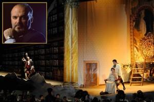 Gala-Arienabend: Pablo Gavanelli & Friends erinnern an die Zeiten der Opern im Franziskanerkonvent in Santa Cruz. Foto: Inszenierung Don Pasquale