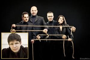 """Cuarteto Quiroga reist aus Madrid nach La Palma – die Klavierbegleitung des Streicherensembles übernimmt Javier Perianes (kleines Foto): Die internationalen Kritikerszene schwärmt von """"einem Erlebnis der Weltklasse"""". Foto: Cuarteto Quiroga"""