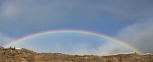 Regenbogen-doppelt-mond