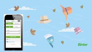 Binter: App zur Flugbuchung und App für Wind und Wetter. Grafik: Binter Canarias