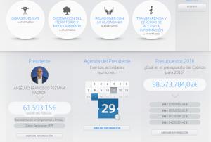 Neue Cabildo-Website: Bürgerinformationen sollen für mehr Transparenz sorgen - sogar das Gehalt von Inselpräsident Anselmo Pestana wird hier veröffentlicht.