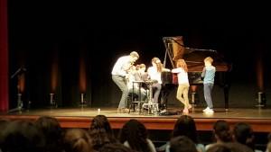 Machte Spaß und Lust auf mehr: Der pädagogische Teil des Kammermusikzyklus im Winter 2014/15. Foto: Stadt