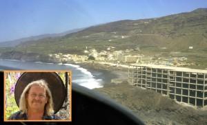 Puerto Naos 1980: Ödi fand es grausam und trist als er zum ersten Mal einflog. Aber er erkannte das Potenzial von La Palma und behielt recht. Foto aus 1980: Carlos Lavers/Wilhelm Haas - wir danken für die Bildgabe!