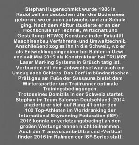 Stephan Hugenschmidt: Lebenslauf.