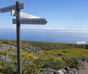 Wanderwege rings um La Palma: Infos über Sperrungen gibt es auch auf der Website der Senderos de La Palma.