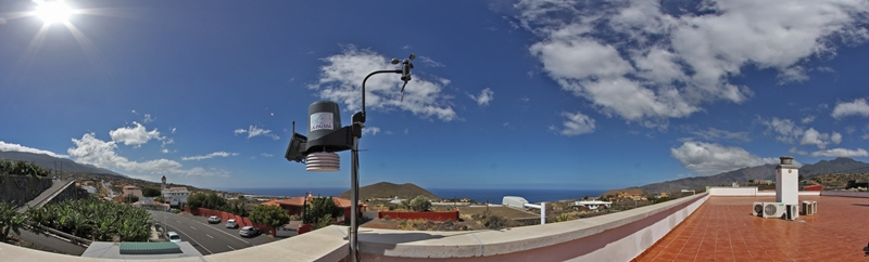 Panoramablick Wetterstation Todoque