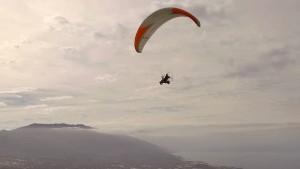 Thomas Senkel auf dem Skyrider One beim Jungfernflug auf der Kanareninsel La Palma: