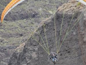 Alles gut geganen: Thomas und der Skyrider One sind in der Luft.