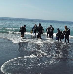 Rückten dem Diadem-Seeigel in zahlreichen Tauchgängen erfolgreich zu Leibe: Submarinisten des Dive-Centers Tauchpartner La Palma. Foto: La Palma 24