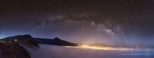 Siegerbild beim Astrofotowettbewerb La Palma 2015: Montse bannte die Milchstraße über dem Süden von La Palma ins Bild.