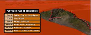 Am Samstag online: Transvulcania-Ultra-Online-Tracking.