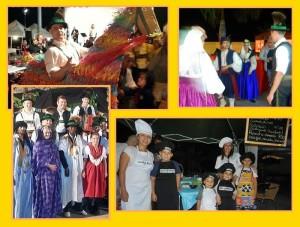 Herbstmesse in Tazacorte: Ein Edelweisser steckt im Caballo Fufo, eine Palmera in Tracht lernt Schuhplattler, Palmeros kochen
