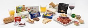 Binter-Snack-Auswahl an Bord: mehr als der Schoko-Riegel verganger Zeiten... Foto: Binter Canarias