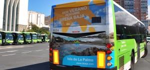 Brena Baja: wirbt auf Titsa-Bussen auf Teneriffa. Foto: Gemeinde