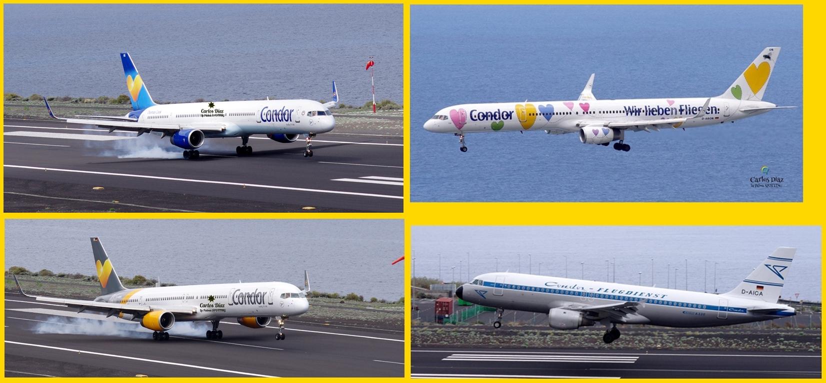 Condor-Starts und -Landungen auf dem Airport von Santa Cruz de La Palma (SPC): fotografiert von Carlos Díaz, dem unermüdlichen Spotter!
