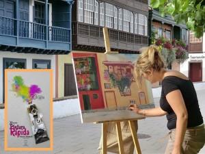 Pintura Rápida: Beim Schnell-Mal-Wettbewerb entstehen Bilder an nur einem Tag. Foto: Santa Cruz