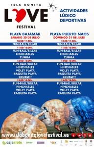 Das Sportprogramm des Festivals: Action an den Stränden von Bajamar und Puerto Naos.