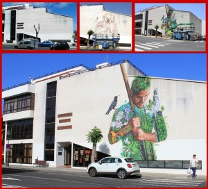 Casa de la Cultura in El Paso: vor und nach der Sprayaktion von Sabotaje al Montaje. Fotos: El Paso/La Palma 24