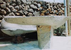 Risse-Objekte und -Bäder zieren viele Anwesen auf La Palma: Jetzt will sich Jürgen ganz der Bildhauerei widmen.